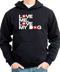 LOVE ME LOVE MY DOG Mens Hoodie