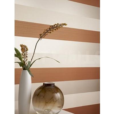 Venice' stripe wallpaper in Orange by wallpaper heaven