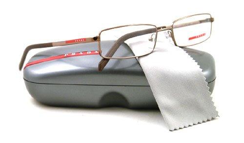 Prada Linea Rossa (Sport) Unisex 52a Bronze Frame Metal Eyeglasses, 54mm