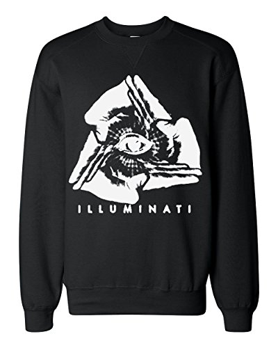 Illuminati Inverted Negative Triangle Hands Eye Pyramid Classic Sweatshirt XX-Large