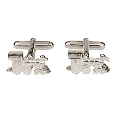 Sterling Silver Detailed Train Locomotive Cufflinks