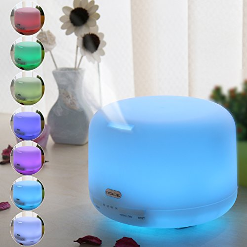 Noza Tec 500 Milliliter Ultrasonic Aromatherapy Essential Oil Diffuser Cool Aroma Mist