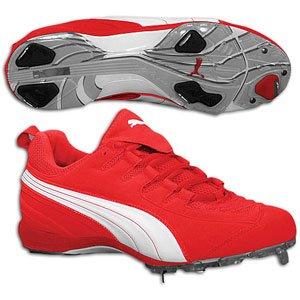 Puma Ultra Speed II Low Metal Baseball Cleats, Red/White, 15 | Amazon