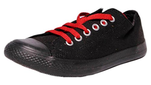 Converse-Unisex-111522-Black-RedCanvas-Casual-Shoes