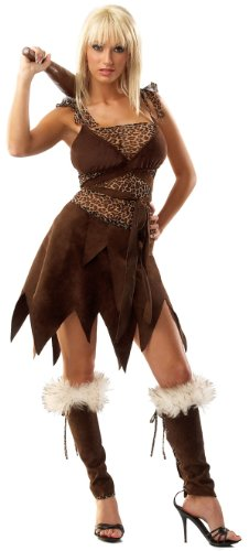 [Cave Girl (Medium / Large)] (Caveman Girl Halloween Costume)