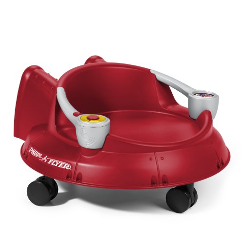 Radio Flyer Spin N Saucer with Electronics, Red