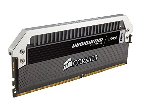 Corsair CMD16GX4M2A2666C15 Dominator Platinum Kit di Memoria da 16 GB, 2x8 GB DDR4, 2666 MHz, CL15 XMP 2.0 Enthusiast, Nero