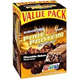 Pure Protein High Protein Bar, Chocolate Deluxe, 6 Bars, 1.76 Ounces (Pack of 2)total of 12 Bars
