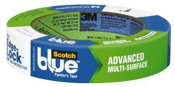 "3M Scotch-Blue 2093 Advanced Multi-Surface Painters Masking Tape With Edge-Lock, 60 Yds Length X 1"" Width, Blue back-951174"