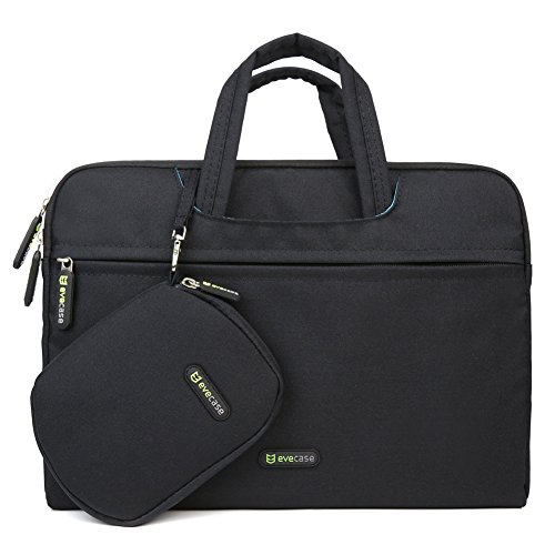 Laptop Briefcase Bag, Evecase 13 - 13.5 Inch Dual Layer Protection Tablet /Laptop Universal Sleeve Bag Carrying Case Briefcase with Handle + Pouch Case and Mouse Pad - Black (Hp Split X2 11 Inch compare prices)