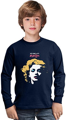 my-week-with-marilyn-amazing-kids-long-sleeved-shirt-by-true-fans-apparel-100-cotton-ideal-for-activ