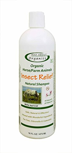 Mad About Organics naturale, a forma di animali della fattoria, 16 oz, insetti e sollievo Shampoo