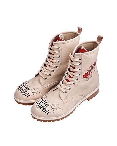 Dogo Shoes Stivale Follow The White Rabbit.. [Beige]
