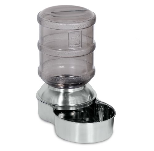Petmate Stainless Steel Replendish Pet Waterer With Water Bottle and Steel Base, Small (Dog Water Dispenser Steel compare prices)
