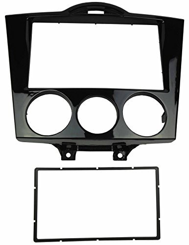 DKMUS Double Din Radio Stereo Dash Installation Mount Trim Kit for Mazda Rx-8 2004-2008 Fascia in Size 173*98mm or 178*102mm Gloss Black (Mazda Rx 8 2004 compare prices)