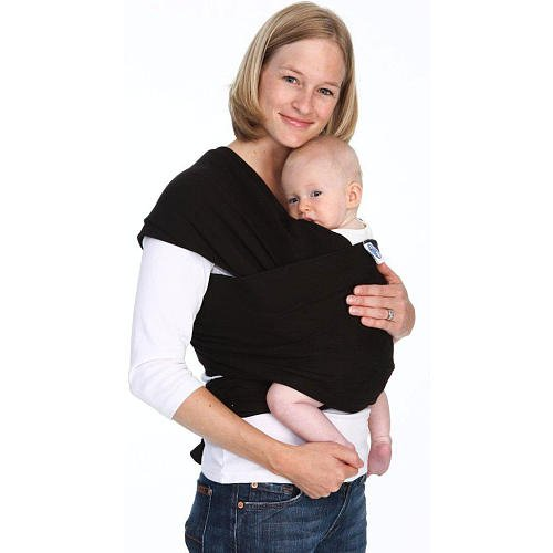 Moby Wrap Baby Carrier Black front-1068602