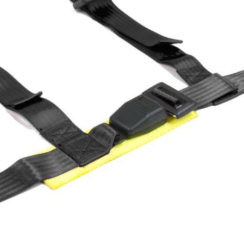Nrg Sbh-100B 4-Point Safety Nylon Seat Belt Harness With Buckle - Black