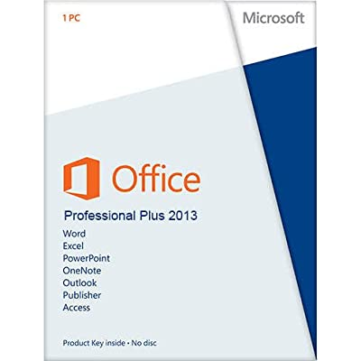 Microsoft Office Professional Plus 2013 Genuine Lifetime Product 1 PC 1 User
