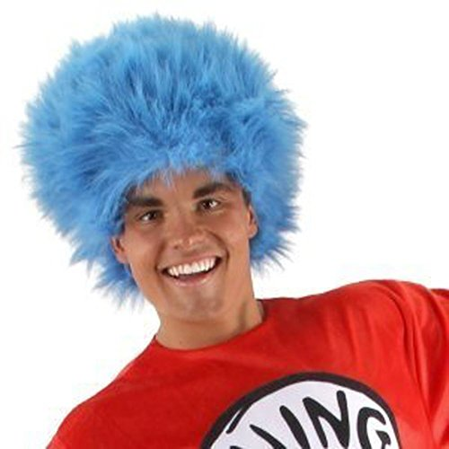 Dr. Seuss The Cat in the Hat Thing 1 and Thing 2 Adult Blue Wig
