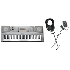 Yamaha YPT310 61 Full Size Keyboard Bundle