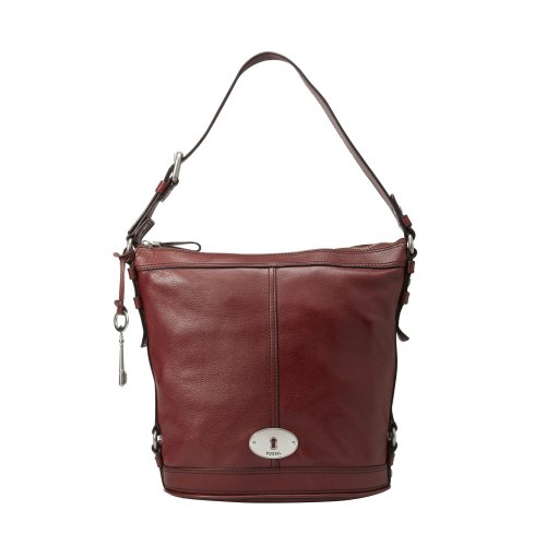 Fossil Maddox Bucket Bag - Brick Red