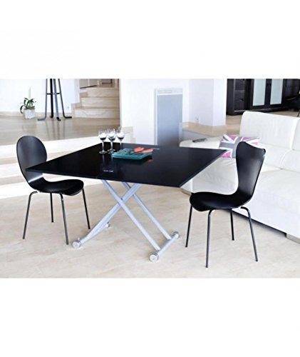 Upper table relevable et extensible melaminee noir - Table extensible et relevable ...