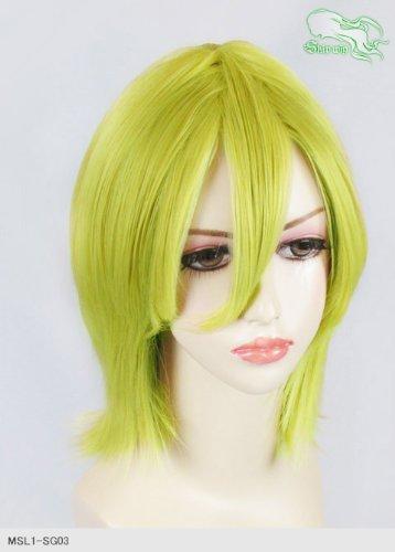 スキップウィッグ 魅せる シャープ 小顔に特化したコスプレアレンジウィッグ シャイニーミディ スプリンググリーン