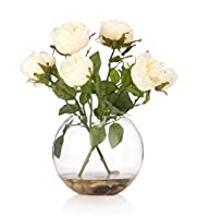 Artificial Roses in Fish Bowl