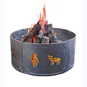 Big sky wildlife fire ring fire pits for Amazon prime fire pit