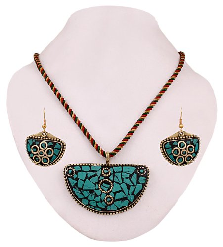 Glorious 3 piece set Tribal / Ethnic master piece Pendent Necklace Set. Fully Hand Crafted. - Latest Pick DN No.etc-675