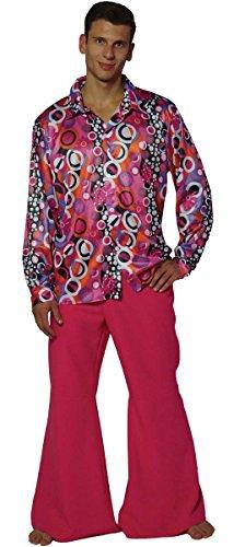 Maylynn 13156-XXL - Hippie Kostüm Candyman, 60-/70-er Jahre Herren Hemd und Schlaghose, Größe XXL