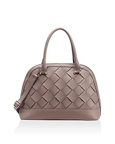 PINK HALEY Women's Helena Braided Satchel, Taupe