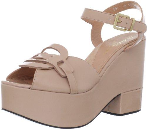 c06934137dec The Features Robert Clergerie Women s Dors Platform Sandal Blush Calf 37 5  EU 7 B US -