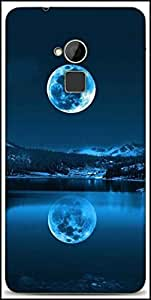 Snoogg Full Moon Reflection Designer Protective Back Case Cover For HTC One-Max