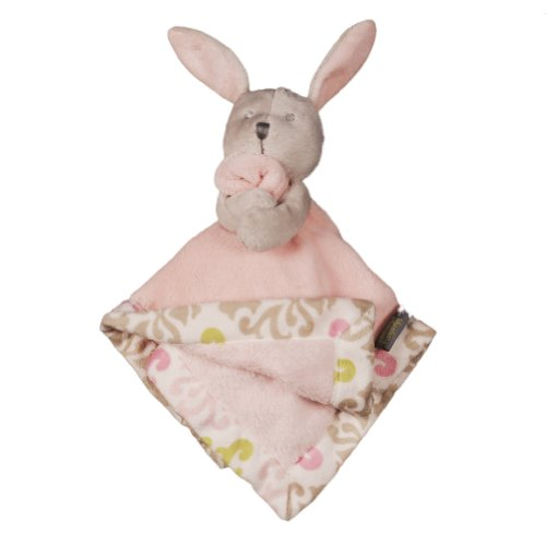 Blankets and Beyond Modern Mom Coral Bunny Nunu Pink - 1