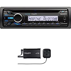 See Sony CDXM20 Marine Stereo Receiver and SiriusXM SXV300v1 Connect Vehicle Tuner Bundle Details