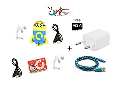 Ants Combo ( ME2 Shape MP3 Player + Charger + Kitty Rectangle Shape MP3 Player + 8GB Micro SD Card Free- AT-ME2-KT-589 )