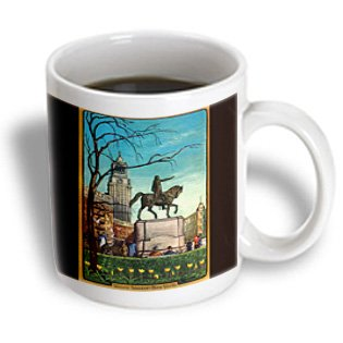 Bln Vintage New York City Collection - Union Square New York Statue Of A Man On A Horse - 15Oz Mug (Mug_170682_2)