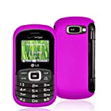 Titanium Hot Pink Rubberized Hard Protector Case Phone Cover for LG Octane (VN530)