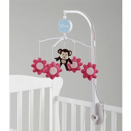 Disney Little Bedding Raspberry Jungle Musical Mobile - 1