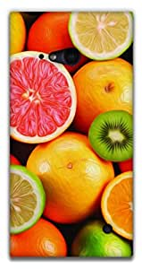 The Racoon Lean printed designer hard back mobile phone case cover for Nokia Lumia 730. (Fruit Sala)