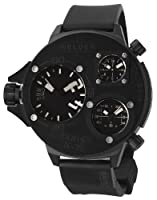 Welder by U-Boat K30 Oversize Triple Time Zone Black Ion-plated Steel Mens Sport Watch K30-9001 from Welder