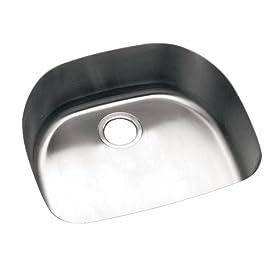 Elkay ELU2118 Harmony Lustertone Undermount Sink, Stainless Steel