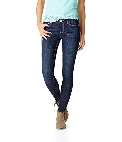 Aeropostale Women's Skinny Core Dark Wash Jean 6 Dark Wash