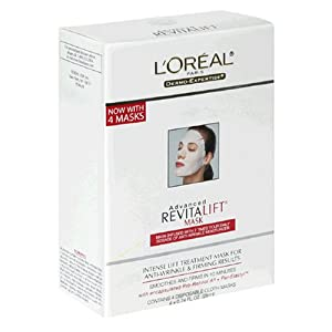 L'Oreal Advanced RevitaLift Mask, 0.74-Ounce Masks in 4-Count Box