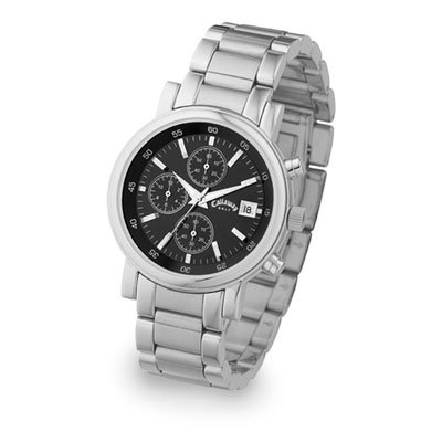 Callaway Collection Stainless Steel Watch with Black Face