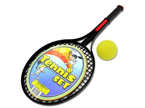 Tennis Racquet Set with Foam Ball Kids Children by bulk buys