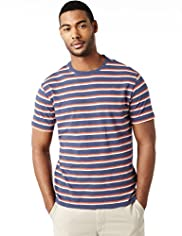 North Coast Pure Cotton Double Striped T-Shirt