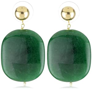 "Amanda Rudey ""Lollies"" Emerald Jade Jawbreaker Earrings"