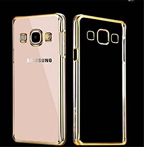 VAV New Luxury Gold Plating Origin TPU Soft Silicon Back Case Cover For Samsung Galaxy E5 (Golden Edges)